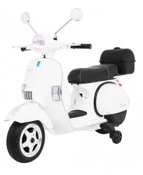 Elektrická motorka / skúter Vespa biela